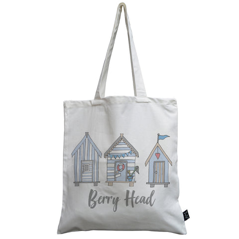 Personalised Beach Huts City canvas bag