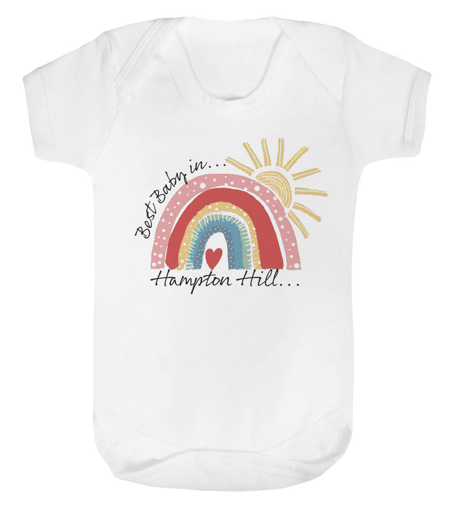 Personalised City Rainbow Best Baby Vest