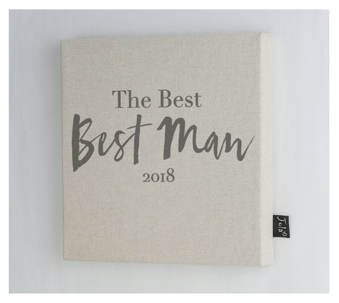 The Best Man 2018 Wedding canvas Frame