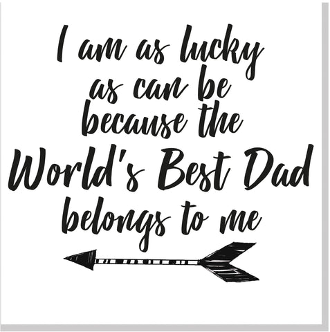 Best Dad belongs to me square card