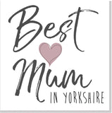 Personalised Best Mum City Blush heart square card