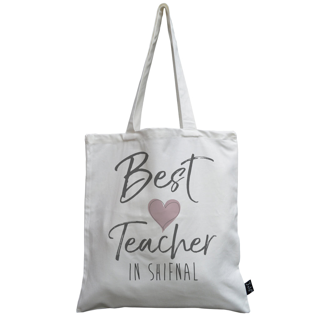Personalised Best Teacher City Canvas Bag