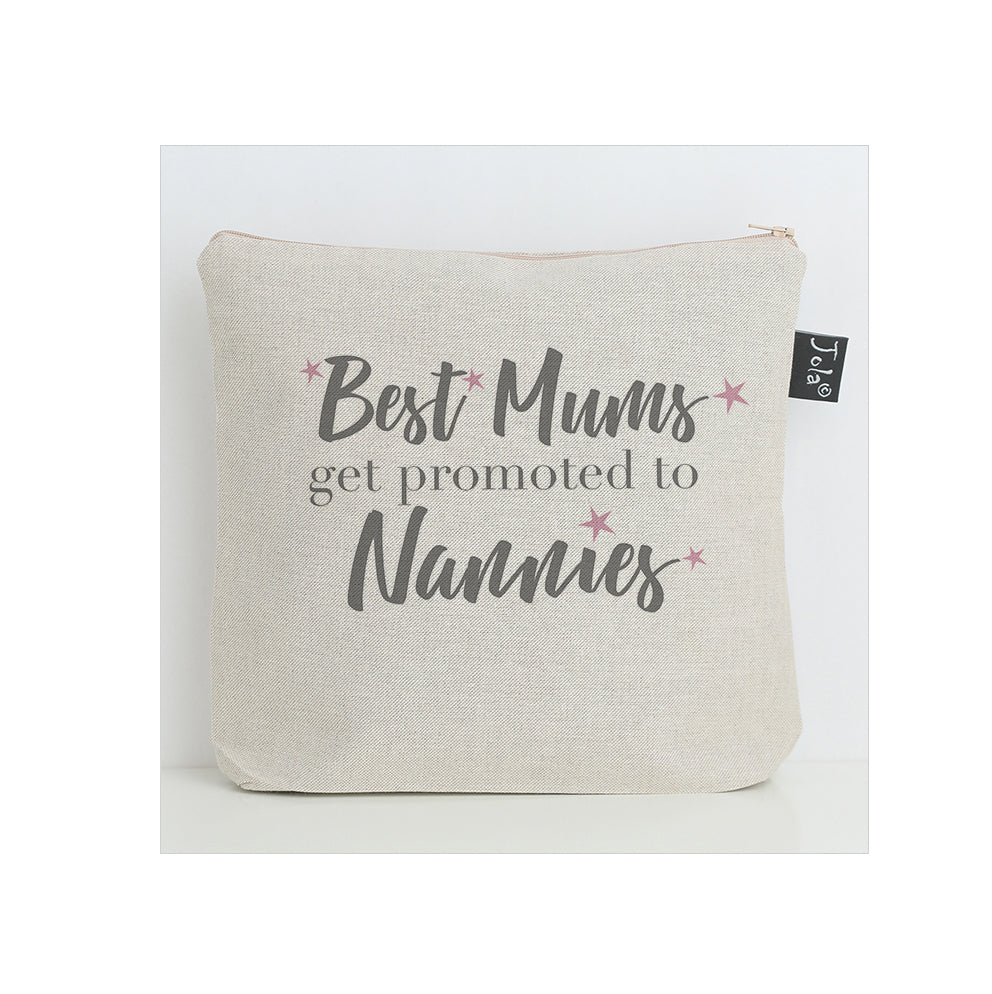 Best Mum's get promoted to Nannies pink stars washbag