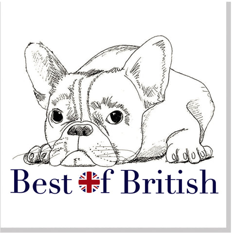 Best of British square card