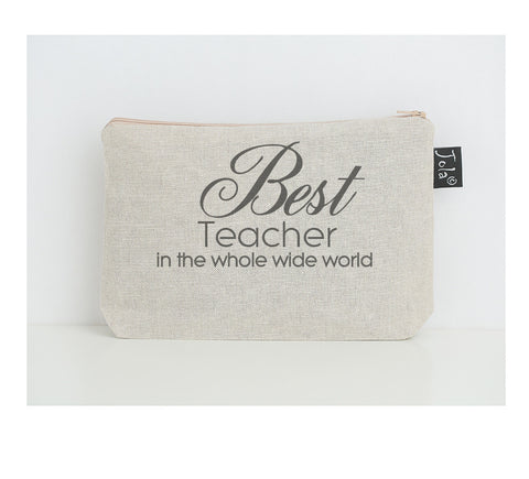 Best Teacher small make up bag