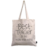 Best Teacher in the whole wide world canvas bag