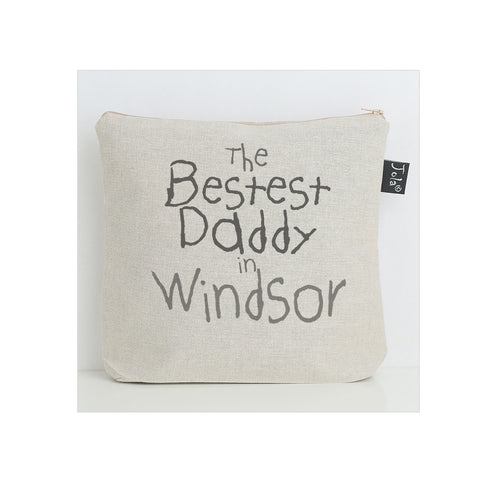 Personalised Bestest Daddy city wash bag