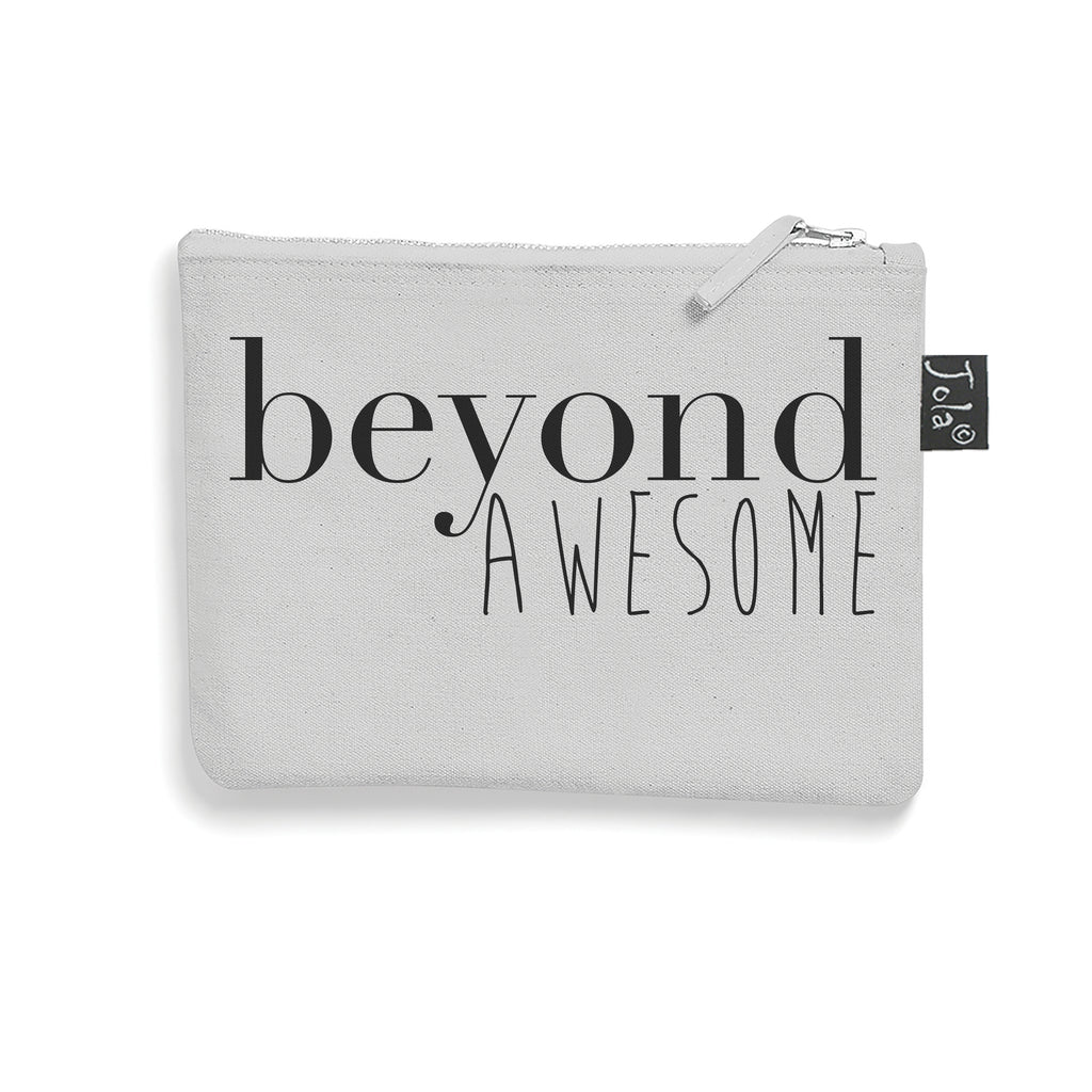 Grey Brushed cotton Beyond Awesome make up bag