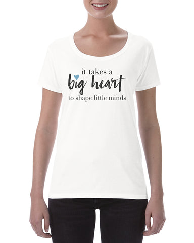 Cotton T Shirt Big Heart Teacher