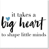 Big Heart Teacher square card