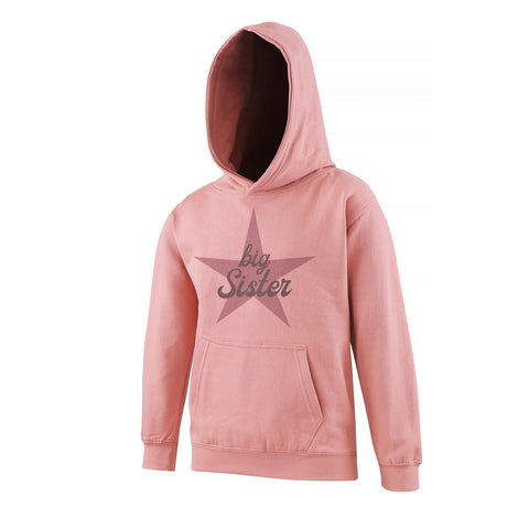 Cotton Kids Hoodie Big Sister Star
