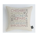 Trade only Personalised Block City cushion pastel