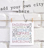 Personalised Block City Card
