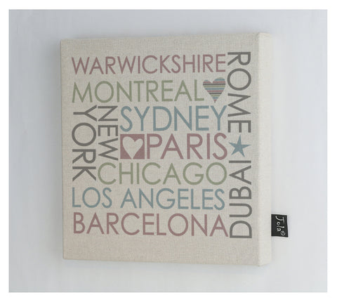 Personalised Block City Canvas Frame
