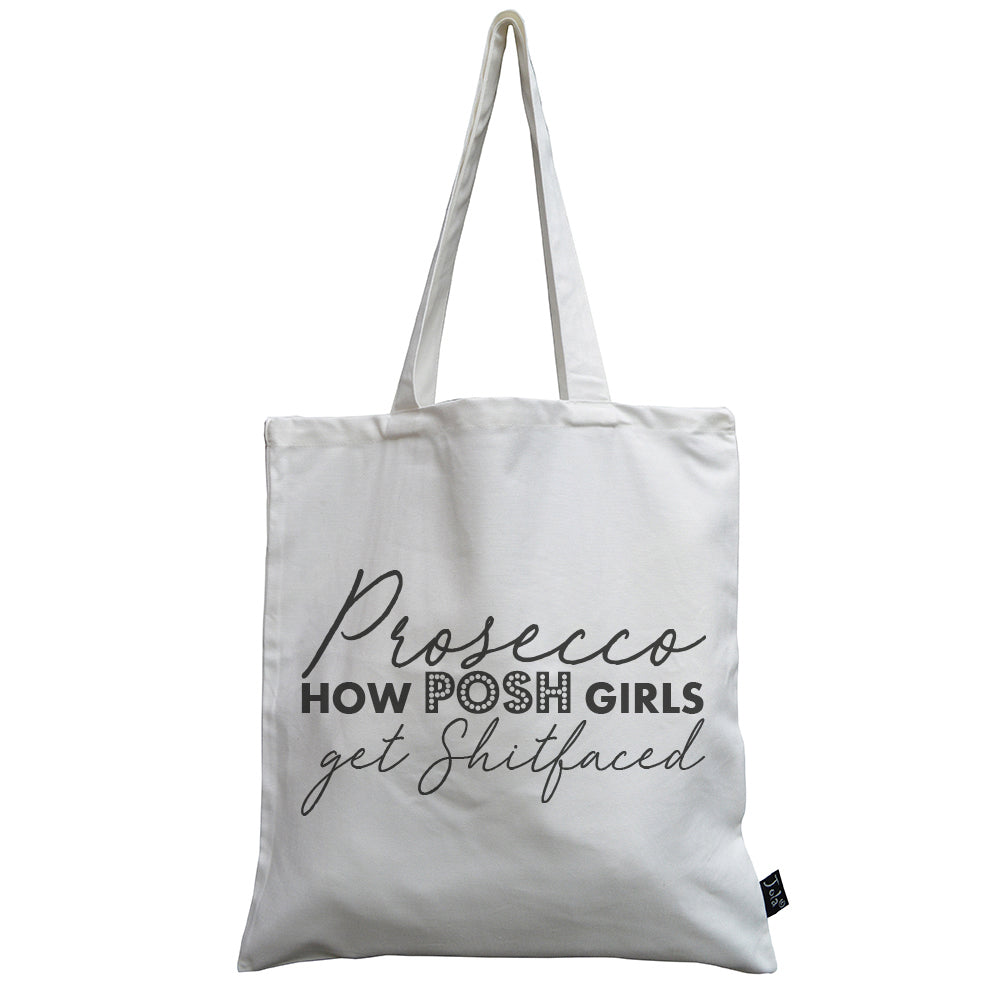Bold Prosecco Shit Faced canvas bag
