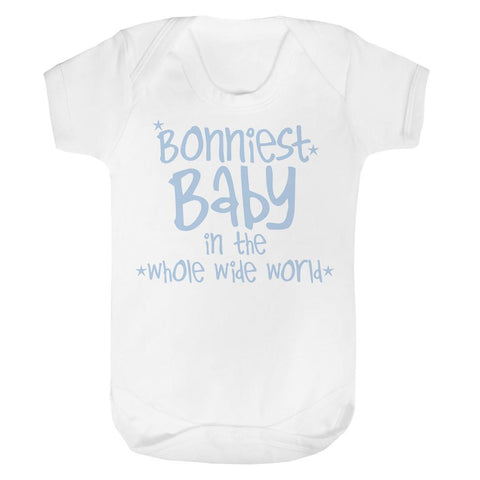 Bonniest Baby in the whole wide world Baby Vest
