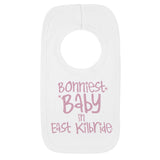 Personalised City Bonniest Baby Bib grey