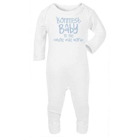 Bonniest baby in the whole wide world Babygrow