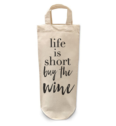Life is short buy Wine Bottle Bag