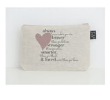 Braver small make up bag heart