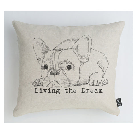 Bulldog Living the Dream boudoir cushion