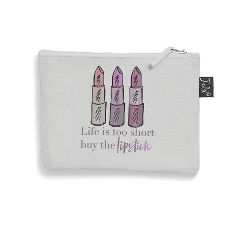 Brushed cotton Buy the lipstick make up bag
