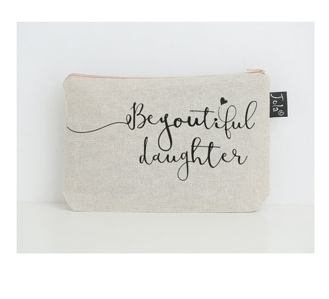 BeYOUtiful Daughter small make up bag