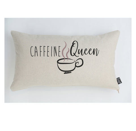 Caffeine Queen cushion