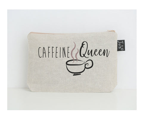 Caffeine Queen small make up bag