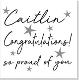 Personalised Congratulations Stars square card