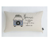Blue camper van home cushion