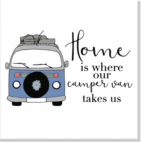 Blue Camper home square card
