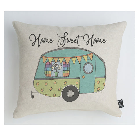 Caravan home sweet home cushion