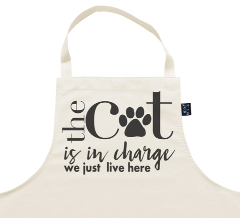 Cat in Charge Apron