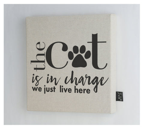 Cat in Charge Canvas Frame