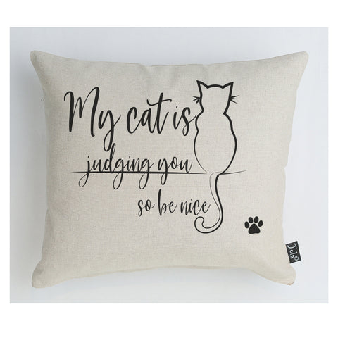 Cat Judging you cushion