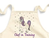 Chef in Training Unicorn Mini Apron