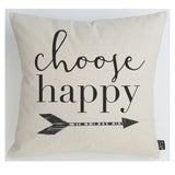 Choose Happy cushion