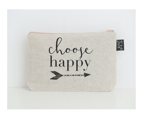 Choose Happy small make up bag