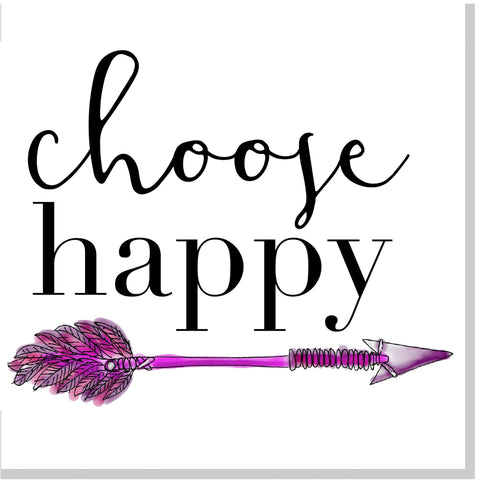 Choose Happy arrow square card
