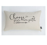 Choose your own path cushion