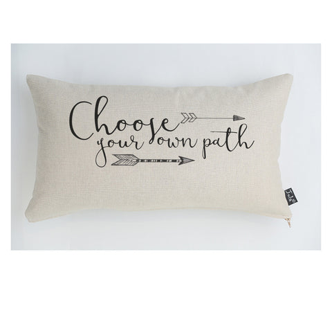 Choose your own path large boudoir cushion