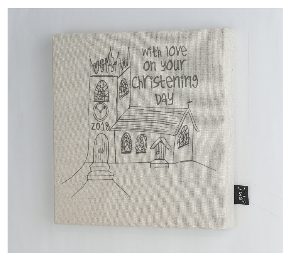 Church Christening canvas frame