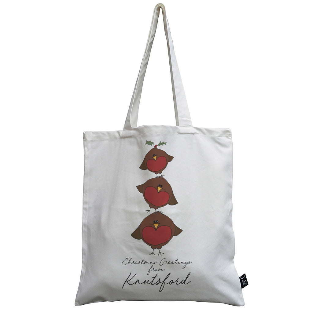 Personalised City Robin Tower canvas bag