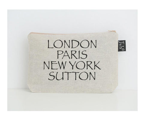Personalised City small Make up bag