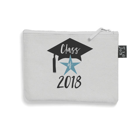 Class of 2018 small make up bag grey