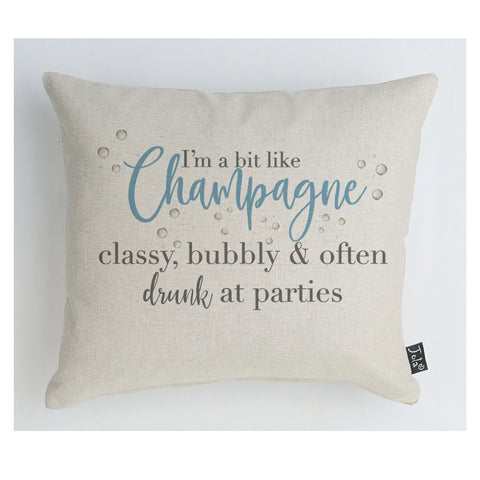 New Champagne Classy Cushion blue