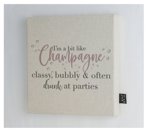 New Champagne classy bubbly canvas frame