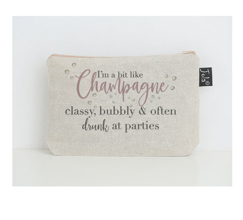 New Champagne classy small makeup bag