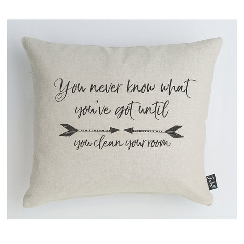 Clean room arrows cushion